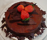 #Rich Chocolate Birthday Cake with Fresh Strawberries