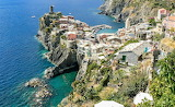 View of Vernazza Italy from Blue Trail