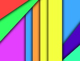 Rainbow verticals and diagonals