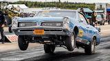 Superstock Pontiac gto doing a wheelie