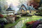 Village cottage painting