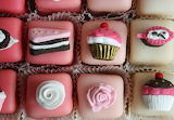 ^ Fondant fancies