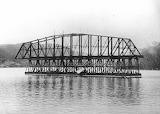 Hawkesbury River Railway Bridge under construction c1884-85 Cour