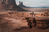 Travel in Monument Valley, U.S.