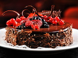 #Outrageous Chocolate Berry Cake