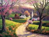 Spring Walk to Church ~ Randy van Beek