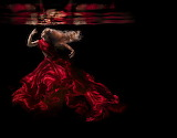 Lady In Red Underwater
