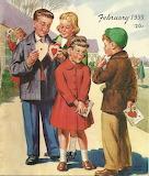 Valentine Exchange~ Wee Wisdom magazine art