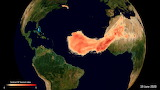 "Space ESA ""Aerosols from Saharan dust plume"" ""Copernicus Sentine"