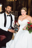 Bride, Groom, Best Dog