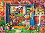Farm flower shed