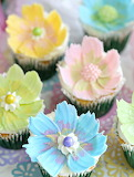Chocolate flower cupcakes
