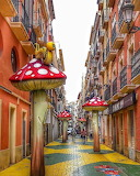 The Mushroom Street, Alicante, Spain