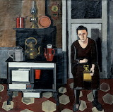 Jean Brusselmans , Woman in a kitchen, 1935