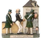 Zizenhauser Terrakotte Satirische Zollszene 19. Jahrhundert