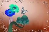 Flower card mushroom invitation