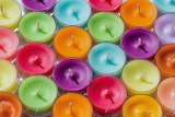 rainbow colored candles