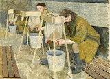 Evelyn Dunbar, Milking Practice with Artificial Udders, 1940