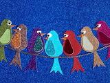 ^ Birds on a wire funky art