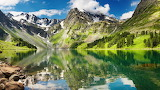 ☺ Reflection of a mountain in the water of a lake...