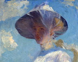 Frank W. Benson, Study for Young Girl with a Veil, (detail)