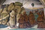 Abbazia Monte Oliveto Maggiore Siena affresco Sodoma 09 eremiti