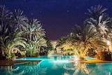 Marrakesh luxury pool at night