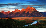 Red mountains in Wyoming