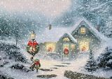 Christmas-cottage-snowfall-painting