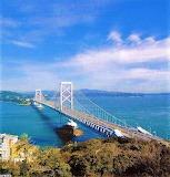 Strait bridge, Japan