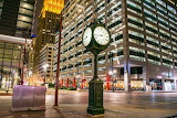 Houston Texas Downtown Town-Square Clock