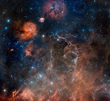"Space tumblr wonders-of-the-cosmos ""Supernova remnant toward the"