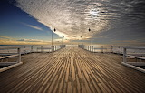 heavenly bridge above the pier in Sopot