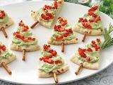 ^ Guacamole pita bread and pretzel sticks