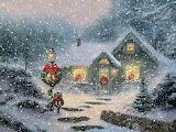 Thomas Kinkade Christmas Painting
