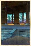 """Art tumblr dogstardreaming """"(川瀬 巴水) """"Chionin Temple"""" Kyoto """"Kawa"""