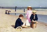 Samuel S. Carr, Children on the Beach, 1879