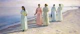 A Beach Promenade. Michael Peter Ancher 1896