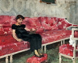 Helene Schjerfbeck, Girl on a red Sofa, 1882