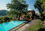italian countryside villa and pool