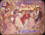 Manifesto di Alphonse Mucha per 'Amants' (1895)
