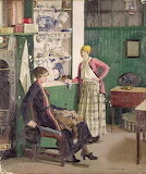 In The Kitchen by Harold Harvey 1918