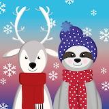 Reindeer and Sloth Christmas Toon