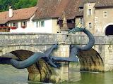 Dragon Bridge, Saint Ursanne, Switzerland
