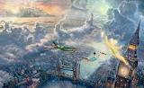 Peter pan-popular-fairytale-Thomas Kinkade
