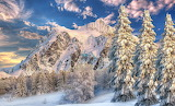 Spectacular winter in the mountains