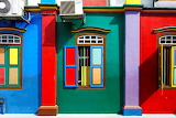 Colorful house facade in India