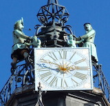 Ch Dijone Jacquemart Clock