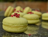 ^ Pistachio, Lemon and Raspberry Macarons