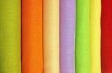 #Rainbow Burlap All in a Row
